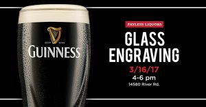 Guinness Glass Engraving Event