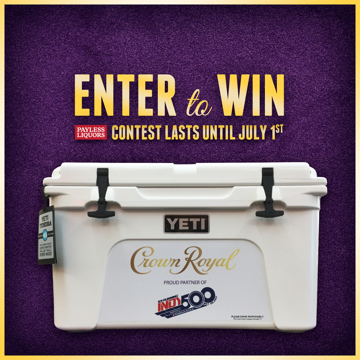 Crown Royal Yeti Cooler