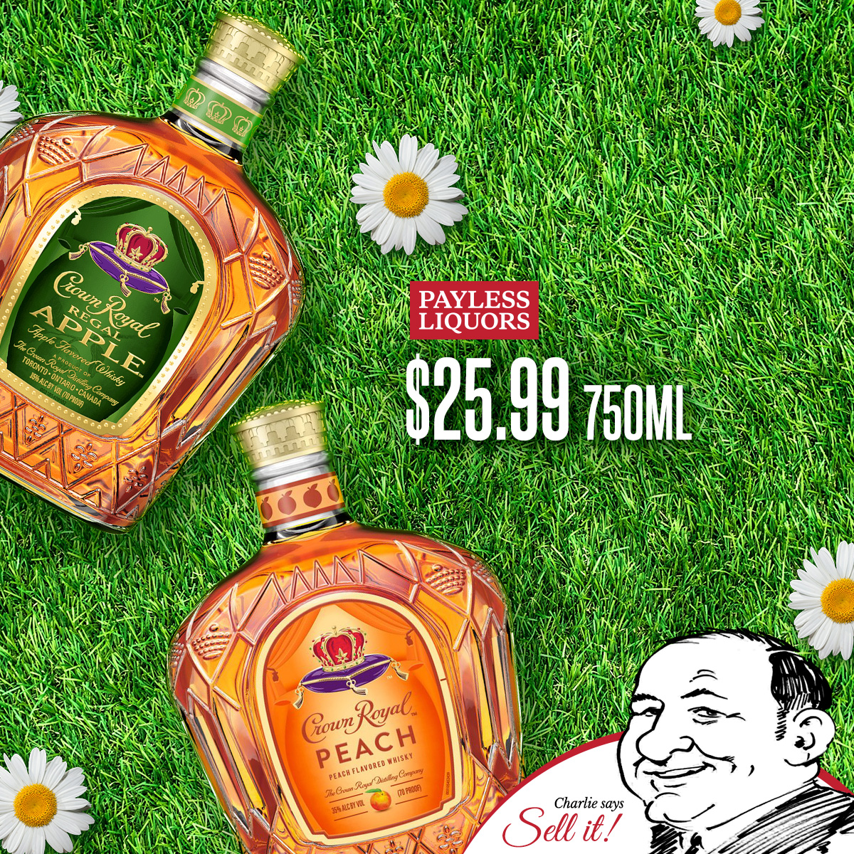Crown Royal Apple & Peach 750mL