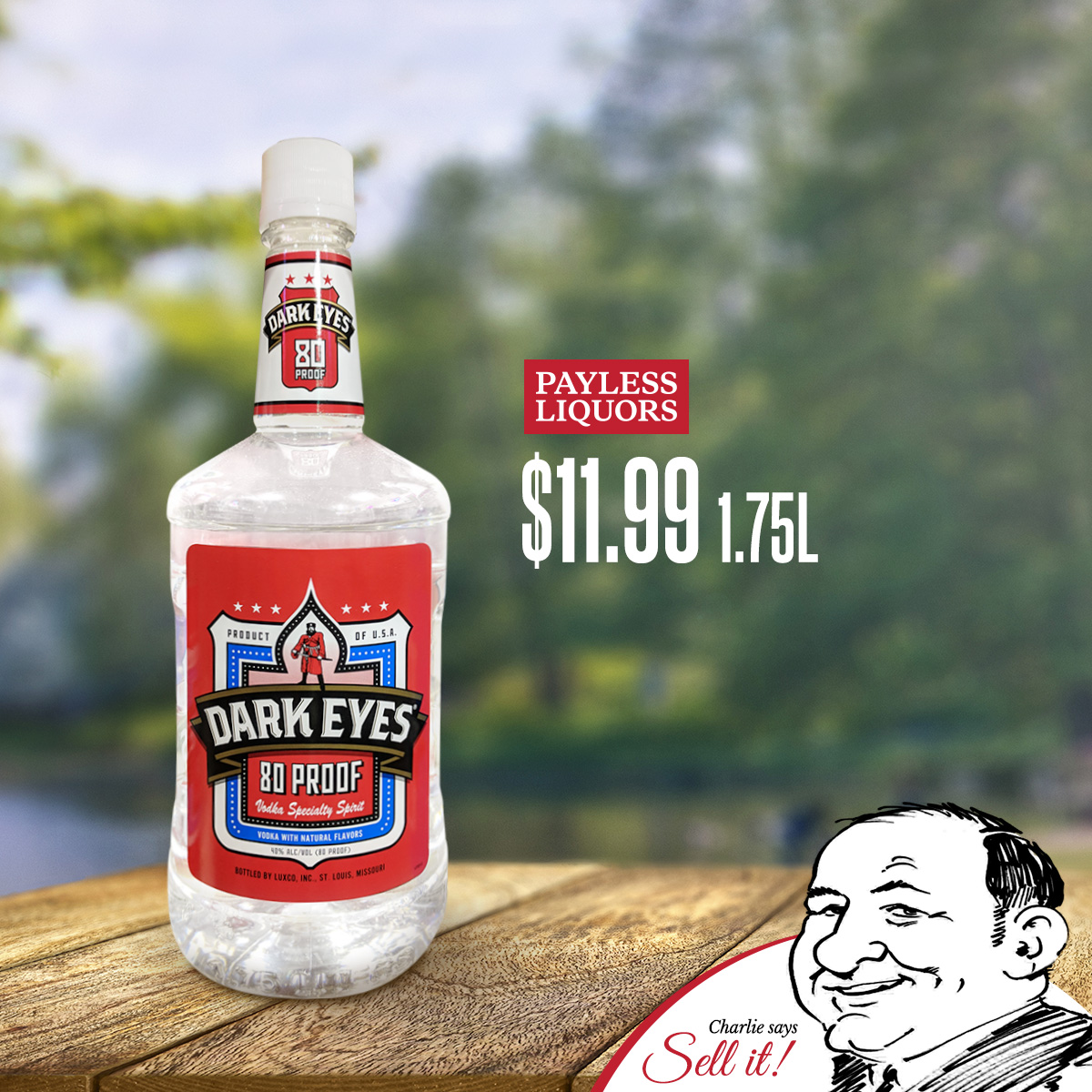 Dark Eyes Vodka 80 Proof 1.75L