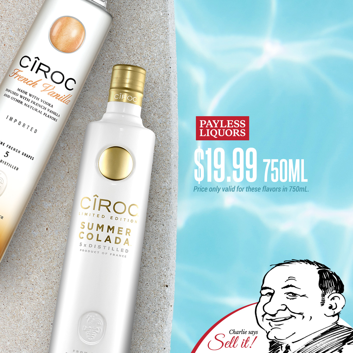 Ciroc Summer Colada & French Vanilla 750mL