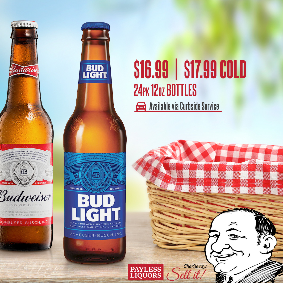 Bud Light & Budweiser 24pk 12oz Bottles