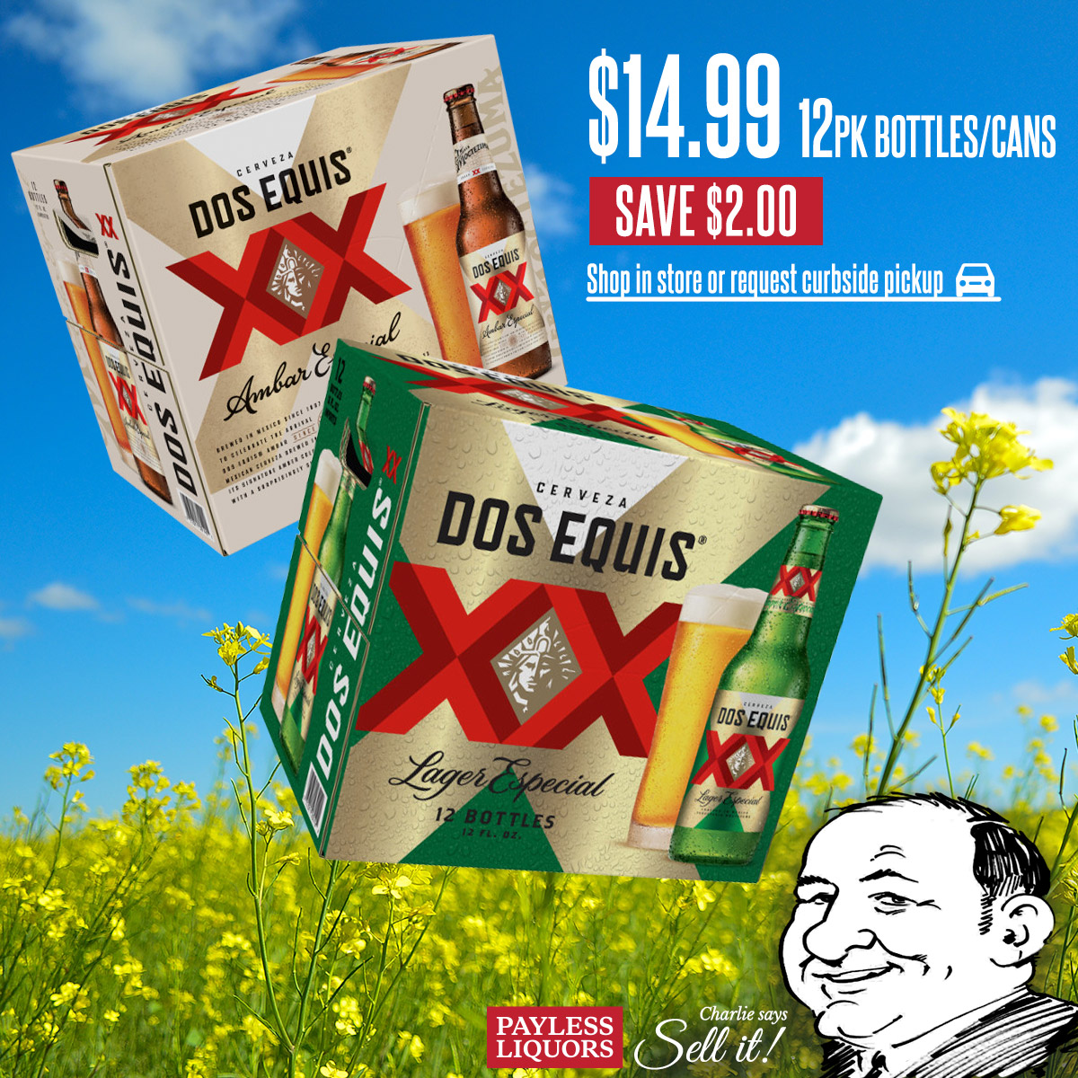 Dos Equis 12pk Bottles & Cans