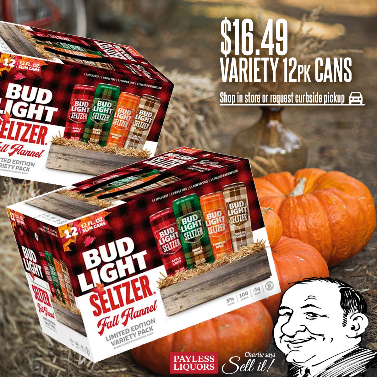 Bud Light Seltzer Fall Flannel Edition Variety 12 Pack