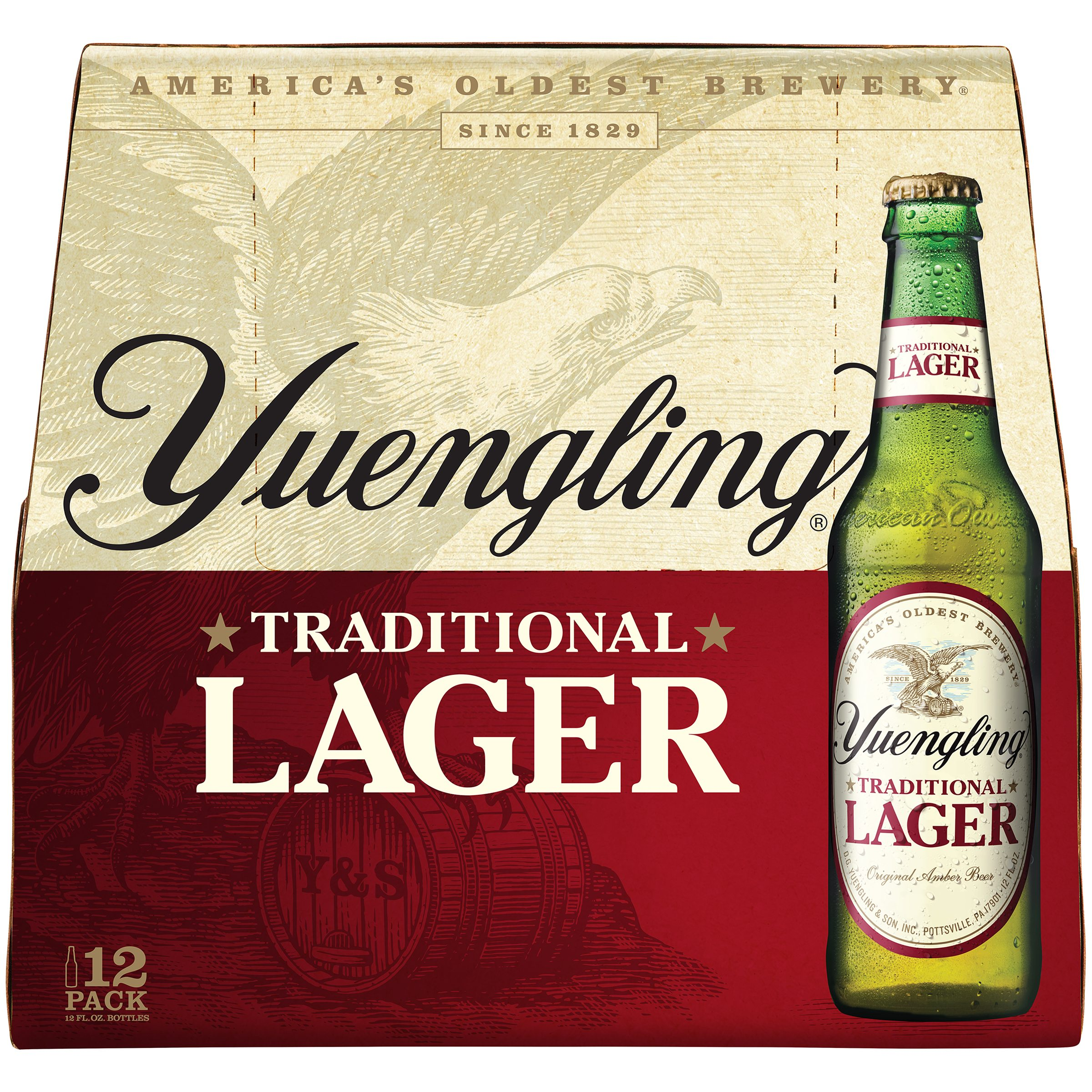 Yuengling Lager 12pk Bottles & Cans - Save $1.00