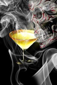 Halloween-Themed Cocktail